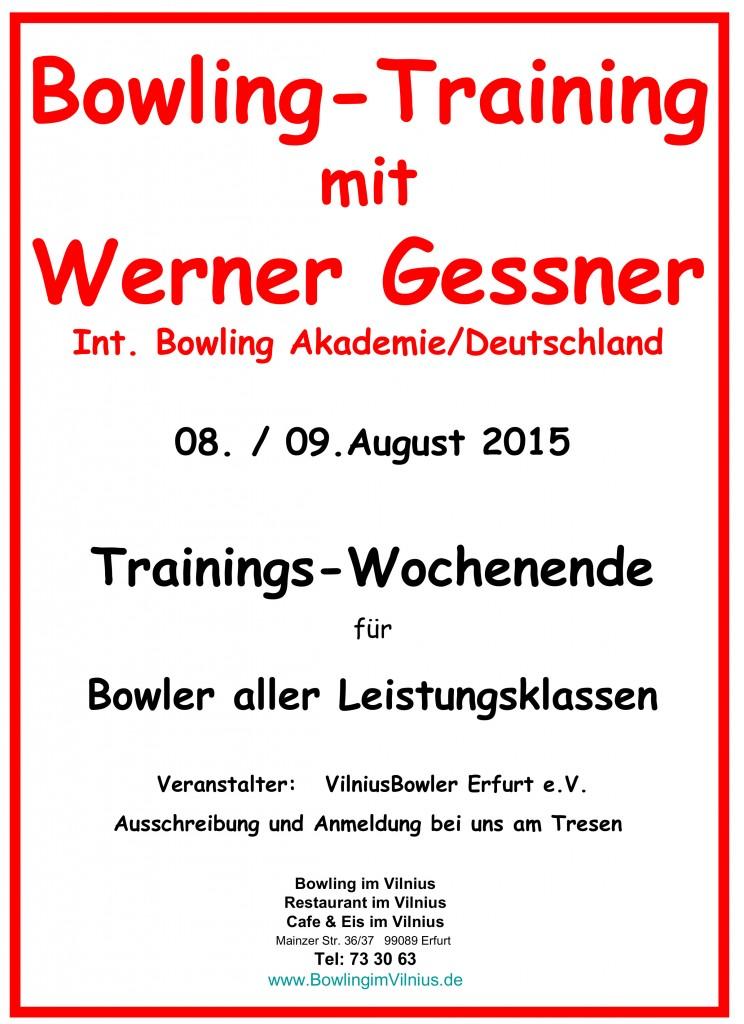 Training Bowling Werner Gessner 15.06.2015