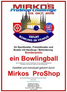 Mirkos ProShop Challenge  03. Oktober 2015  Plakat